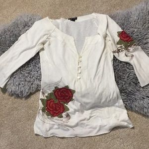 Rose V-Neck Shirt